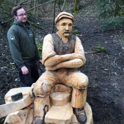 Woodland sculptures arrive at Buxton Country Park