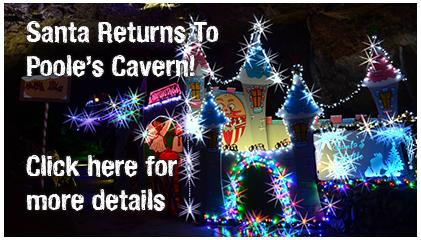 Santa visits Poole's Cavern this December